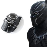 Wholesale adult captain america mask - Horror Mask Black Panther Helmet Face Masks Cos America Captain 3 Halloween Masquerade Party Makeup Show Decoration 4 5yk UU