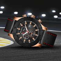 мужские спортивные часы оптовых-2018 Watch Men top  Wrist Quartz Wristwatch Male Clock Relogio Masculino sport men's watches Moon Phase Waterproof