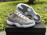 Wholesale Air Fibre - Authentic Quality Air Retro 11 Cool Grey Low Real Carbon Fibre Man Basketball Shoes Original Quality Sports Sneakers With Original Box
