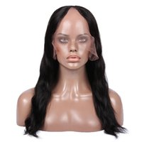 Wholesale u part wigs for online - Premier U part Lace Human Hair Wig With Natural Hairline Pre plucked Indian Remy Hair Density Inches Natural Wave For American