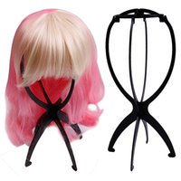 Wholesale Wig Accessories Supplies - 2018 high quality wig accessories wig special bracket plastic Wig Stand black and white blue powder four-color supply JF0204024