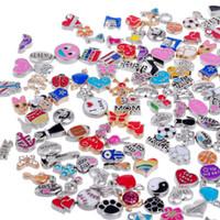messing süd großhandel-Tsunshine Wholesale 50pcs Floating Charms Lot für DIY Glass Living Memory Medaillon Mix Silber Gold Farbe