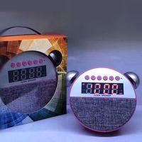uhr radio mini usb großhandel-AY-5 Mini Bluetooth Lautsprecherunterstützung USB SD-Kartenlautsprecher FM-Radio Tragbare digitale Lautsprecher MP3-Player mit Uhr