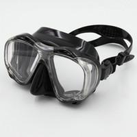 ingrosso maschera di silicone donna nera-Marchio Whale Super qualità Full Face silicone liquido pesca subacquea nero wen / donne equipaggiamento per lo snorkeling maschera per immersioni subacquee MK-700
