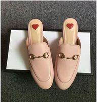 chaînes de tigre achat en gros de-2019 designer sandales mocassins princetown horsebit mules pantoufle avec boîte suedue pantoufle avec chaîne en métal mocassins dragon tigre serpent brodé