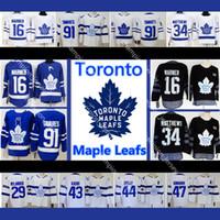 kadri jersey al por mayor-Jersey de Toronto 91 Mitchell Marner Auston Matthews Nazem Kadri William Nylander 31 Frederik Andersen Maple Leafs Camisetas de hockey