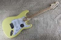envío gratis zurdo guitarra al por mayor-2014 recién llegado cuerpo diestro + zurdo F ST crema amarillo guitarra eléctrica envío gratis