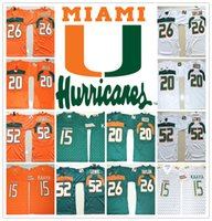 Wholesale Red Reeds - HOT Miami Hurricanes COLLEGE NCAA 15 Brad Kaaya 20 Ed Reed 26 Sean Taylor 52 Ray Lewis Jersey Football Jerseys Cheap Jersey SHIRT