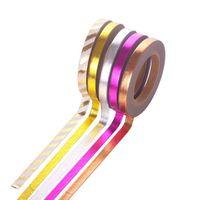 scrapbooking tapes UK - 5 Pcs set Kawaii Foil Gold Slim Washi tape Scrapbooking DIY Sticker Deco Christmas Masking Tape School Supplies 2016