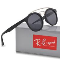 b487707144ed5 Marca Ray óculos de sol das mulheres dos homens de moda óculos de sol óculos  Retro design rodada quadro uv400 óculos de sol Goggle de sol Com casos e  caixa
