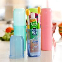 Wholesale Travel Toothbrush Cup - Practical travel candy colored portable wash cup toothbrush toothpaste towel storage mug Multifunctional toothbrush box storage cup