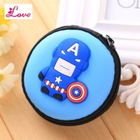minion bags 2018 - Lucia_shop Containing Package Silicone Rubber Coin Bag Minion Bag Captain America Gift Promotional Headset Charger Pouch Holder Coin Purse
