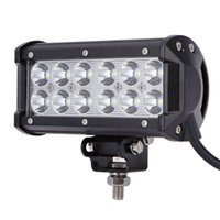 "Wholesale Led Spot Lights For Motorcycles - ultra Bright 7"" 36W Spot Flood Combo Led Light Bar Offroad Driving Light with Mounting Bracket Waterproof for SUV Motorcycle Tractor Boat"