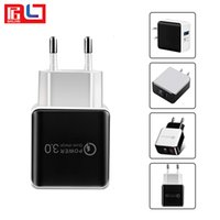 Wholesale mobile phone fast charger online - QC Fast Charger EU US Plug Travel Charger USB Wall Charger Adapter For Mobile Phone