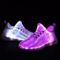 ingrosso accendi il caricatore del usb principale-Caricatore USB di moda Incandescente Light up Sneakers Led per bambini illuminazione scarpe Ragazzi ragazze illuminato Sneaker luminosa