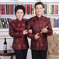 chinesische trachten frauen großhandel-Neu Kommen Tang Anzug Traditionellen Chinesischen Jacken Männer Frauen Langarmshirts Chinesischen Kostüm Stil Hochzeit Bluse