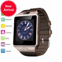 Wholesale Square Silicone Digital Watch - Bluetooth Smart Watch DZ09 with Camera 2G Multifunction Touch Screen Watch SIM TF Card Android Smartphone Smartwatch PK Q18 A1