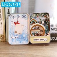 Wholesale beautiful small toys for sale - Group buy LEOOFU beautiful diy doll metal box small houses miniature dollhouse furniture kit toys for children birthday gift cake diary