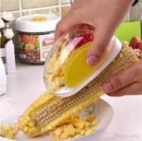 separador de maiz al por mayor-Originalidad Corns Stripper Separador de Maíz Despojado Dispositivo Raspador Pelador de Granos de Maíz Accesorios de Cocina Herramientas Pequeñas para el Hogar 2 95dh gg