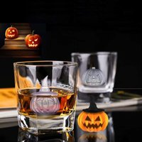 Wholesale New Cavity Halloween Pumpkin Ice Cube Mold Maker Bar Party Silicone Trays Chocolate Mold Kitchen Tool with funnel