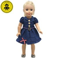 Wholesale Cowboy Toys - Wholesale-American Girl Doll Clothes Handmade Suspender Cowboy Dot 3 Style Skirt For 18 inches American Girl Doll Alexander Dress 2017 New