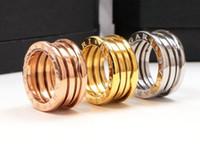ingrosso anello quadrato 18k-Regalo di Natale di lusso 18K placcato oro lucido quadrato CZ Zircone lettera anello per le donne regalo di nozze gioielli alla moda con la scatola di logo