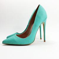 красивые каблуки для женщин оптовых-Высокое качество женщин насосы острым носом тонкие каблуки насосы хороший лакированной кожи Обувь женщина плюс размер США 34-44