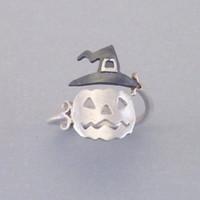 ingrosso cappelli unici del partito-Nuovo cappello di zucca di Halloween fantasma anello aperto per le donne Euramerica anelli di barretta unici creativi gioielli regolabili per gli anelli di partito