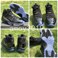 Wholesale Carbon Fiber Thread - Prom Night 11 Basketball Shoes 11s Space Jam Bred Concord Midnight Blue Real Carbon Fiber XI Sports Shoes With Box Size 41-48