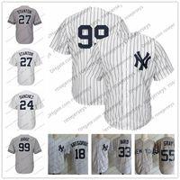 Wholesale suzuki 99 - NY #99 Aaron Judge No Name White Jerseys #27 Giancarlo Stanton #25 Gleyber Torres #24 Gary Sanchez #18 Didi Gregorius #55 Sonny Gray