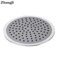 Wholesale stainless steel waterfall shower - ZhangJi 8 inch big waterfall showerhead Silica gel holes Water Saving shower sprayer Electroplated 20cm Round Shower Head ZJ066