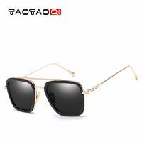 большие боксерские очки оптовых-TAOTAOQI Brand Luxury Sunglasses Men Square Big Box Designer Sun Glasses Women Fashion Vintage Male Goggle Eyewear UV400