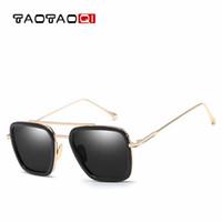ingrosso grandi occhiali di scatola-TAOTAOQI Occhiali da sole Uomo Quadrato Big Box Designer Occhiali da sole Donna Moda Occhiali da uomo vintage Occhiali UV400