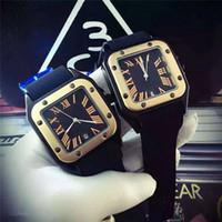 grandes montres de genève achat en gros de-Luxe Or Président Jour Juste Date Geneva Hommes Diamants Cadran Big Bang Lunette Montre À Quartz Hommes Édition Limitée Montres Marque