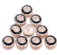 Wholesale metal snap flower buttons for sale - Group buy 10pcs New Snap Jewelry Rose Gold Rose Flower Metal Snap Buttons Jewelry Findings fit Snap Bracelet Bangle