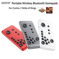 Wholesale portable console android - DOITOP Portable Bluetooth Gamepads for Strike of Kings Mobile Game Handheld Joystick Console Android TV BOX Remote Controller O4