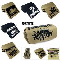 Wholesale storage supplies wholesale - 5 design wallet Fortnite Pencil Bag Cartoon Pencil Cases Stationery Storage Bag School Office Supply Kids Gift Purse MMA335