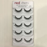 Wholesale hair styling design - New design Red Cherry 3D False eyelashes 5 pairs pack 8 Styles Natural Long Professional makeup Big eyes High Quality