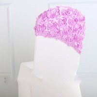 Wholesale chair cover sashes flower for sale - Group buy Fashion Christmas Elegant Rose Flower Chair Cover Cap Chair Sash Sashes for Wedding Decoration Cap Cover Chair Wedding Gift Color cm