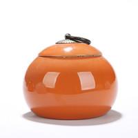 teegläser großhandel-Chinese Tea Storage Kanister Neue Keramik Küche Tee Kaffee Zucker Gewürzglas Container Reise Tee Lagerung Dosen kanister