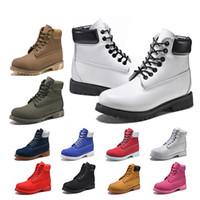 botas de invierno blanco venta al por mayor-Timberland UGG GUCCI Venta caliente original TBL mujer hombre invierno botas de marca blanco negro negro rojo invierno casual Martin botas luxuray zapatos tamaño US5.5-11