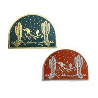 Wholesale plated deserts - Custom Hard Enamel Desert Lapel Pin Mutiple Plating Choice Designed by lost LUST Supply