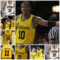 Wholesale Custom Stitched Jerseys - NCAA UMBC Retrievers College Basketball Jerseys 10 Jairus Lyles 11 K.J.Maura 3 Arkel Lamar Custom Any Name Any Number Stitched