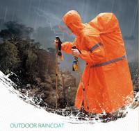 ingrosso casuale zaino marcia-Outdoor Raincoat BlueField Zaino Cover One-piece Raincoat Poncho Rain Cape Outdoor Hiking Camping Unisex Rain gear