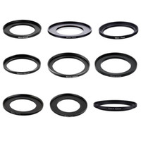 Wholesale lens filter adapter ring - 10pieces 49-67 49-72 49-77 52-58 52-62 52-67 52-72 52-77 55-62mm Metal Step Up Rings Lens Adapter Filter Set