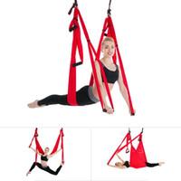 ingrosso swing inversione yoga-Terapia di inversione del tessuto del paracadute ad alta resistenza Anti-gravità Decompressione Yoga Amaca Yoga Palestra Altalena appesa