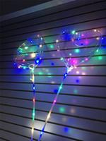 globos de corazon led al por mayor-2019 LED corazón del amor bobo bola regalos del día de San Valentín Led luminoso iluminar globo globo de aire transparente para la fiesta de bodas decoración del hogar