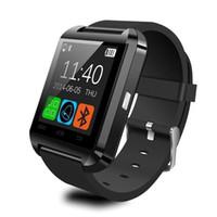 ingrosso dispositivi bluetooth per android-Smartwatch Bluetooth Smart Watch U80 per iPhone IOS Android Smart Phone Wear Orologio Wearable Device Smartwach PK U8 GT08 DZ09 W8