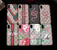 ingrosso fiori popolari-Per IPhone XS Max Custodia per cellulare Vogue per IPhone X 8 8plus 7 7plus 6 6s Plus Custodia per smartphone Custodia per pelle con stampa ape fiore popolare Snake