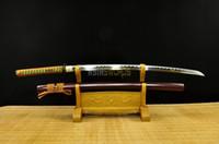 Wholesale handmade katana swords resale online - COLLECTION SWORD for decorate Handmade Battle Ready Full Tang T10 Carbon Steel Japanese Samurai Katana Ninja Sword